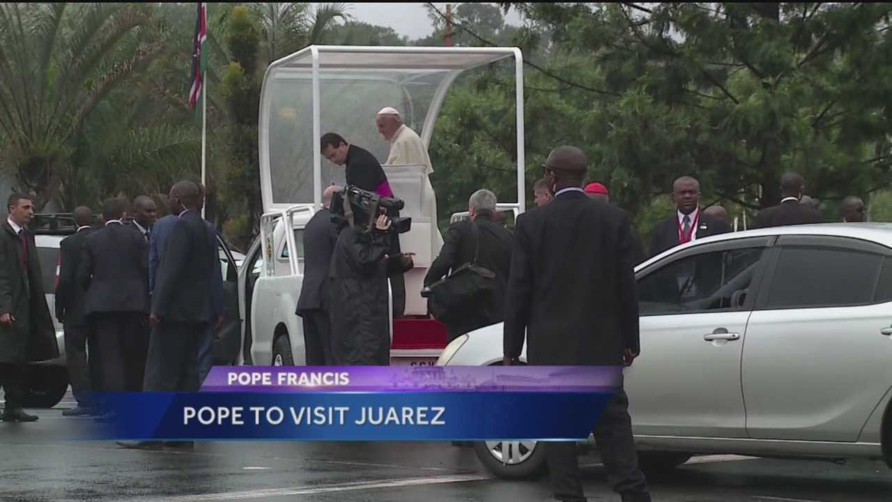 Pope Francis has revealed he's coming to a town just 30 minutes from New Mexico.