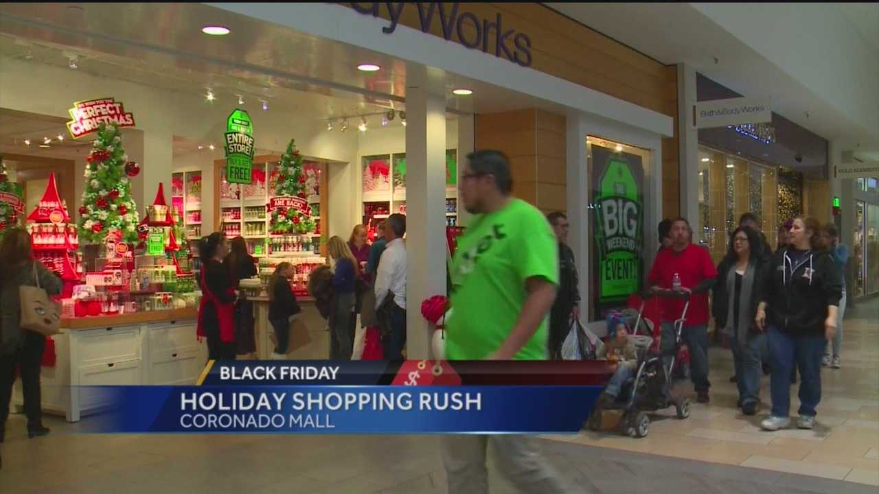 A lot of folks headed out to area malls.