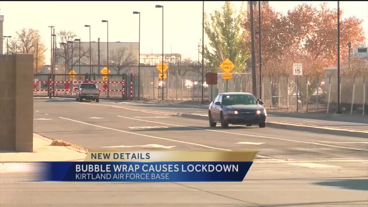 It was a scary scene at Kirtland Air Force Base Wednesday afternoon. Men in tactical gear and Humvees could be seen after phone calls were made to base security regarding an active shooter.