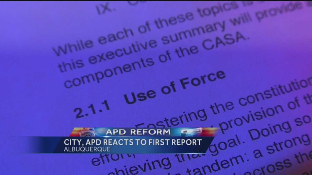 City, APD react to first reform report