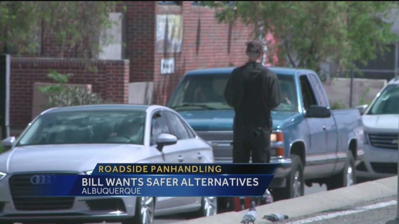 Panhandling is a common problem across Albuquerque, one city councilor says they're posing a safety threat to drivers and themselves.