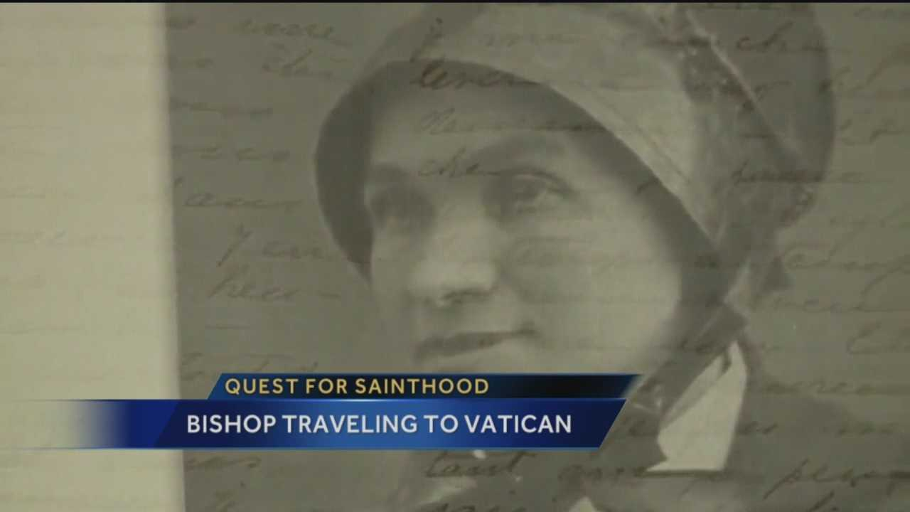 New Mexico could soon be one step closer to getting its first saint. Right now, a retired bishop is on his way to the Vatican to start the process of getting Sister Blandina canonized.