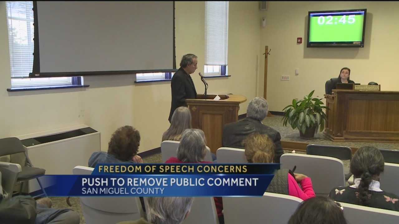 San Miguel County residents are voicing their concerns about freedom of speech, after that right was nearly taken away during a county commission meeting Tuesday.