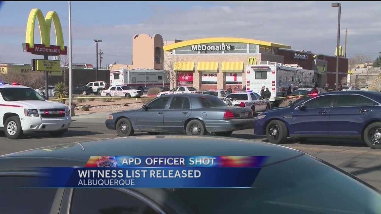 Blue-on-blue shooting witness list released