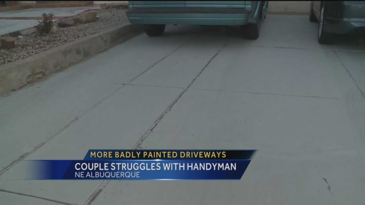 A rouge handyman is doing work on his neighbors' driveways they never asked for.
