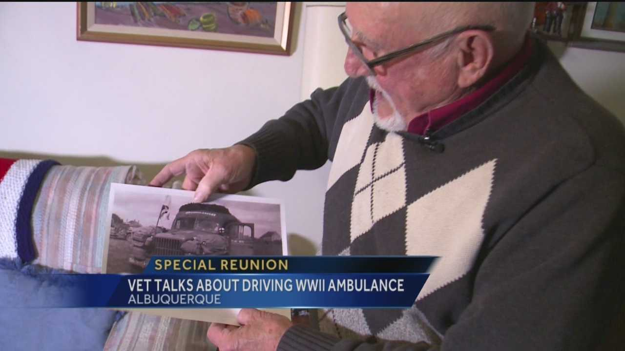 An ambulance driven in WWII is sitting in an Albuquerque museum, and the man who drove it lives here too. He discovered it by chance 71 years later.