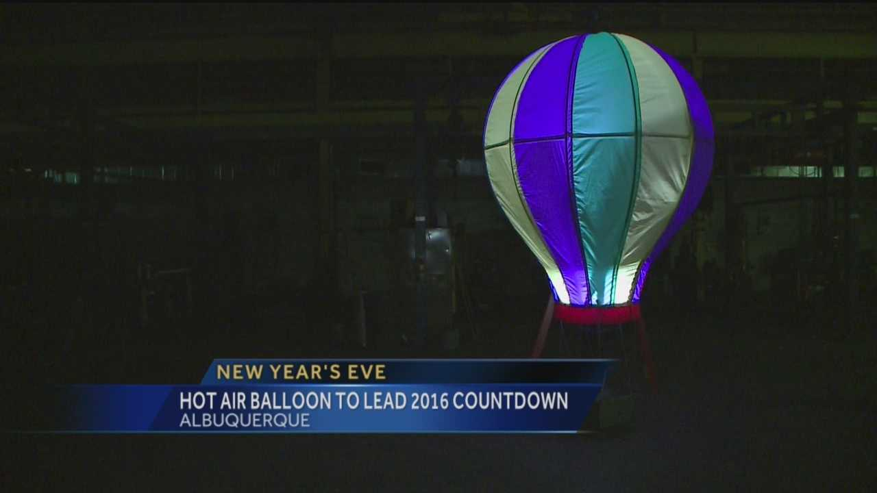 Albuquerque is doing something similar to New York City's New Year's Eve Ball drop, with a hot air balloon.