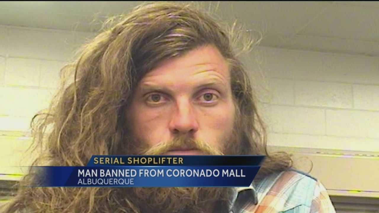 Police say a serial shoplifter was banned from stepping foot in Coronado Mall ever again. But investigators say so far, it's not stopping him.