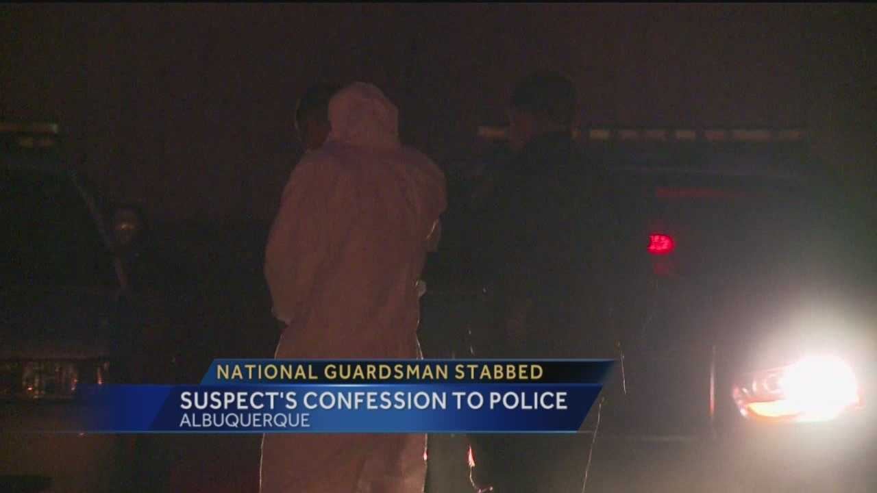 A national guardsman is fighting for his life after he was nearly stabbed to death. Police say the suspect is his friend, and a fellow guardsmen.