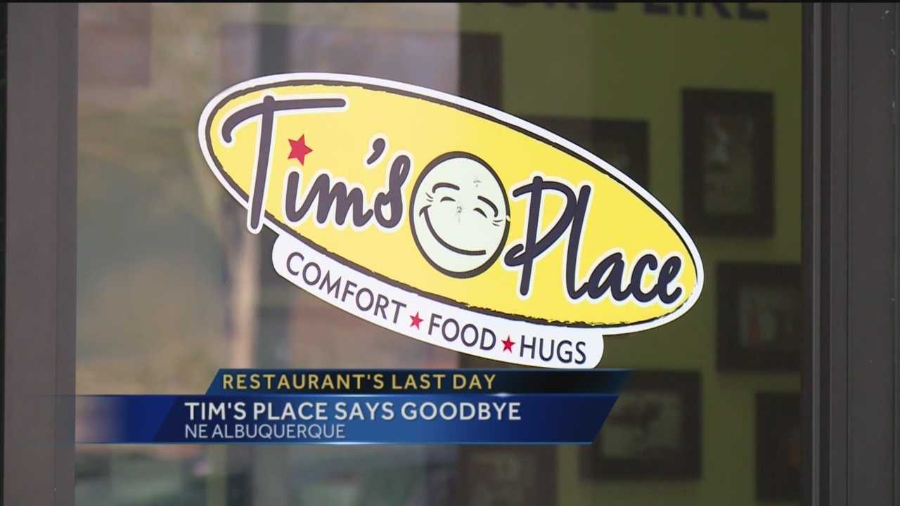Tim's Place is officially closed, but the hugs will be forever. Tim is leaving Albuquerque and moving to Colorado to be with his girlfriend.