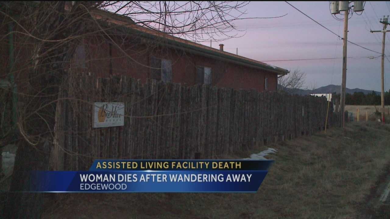 An elderly woman is dead tonight after she disappeared from an assisted living home.