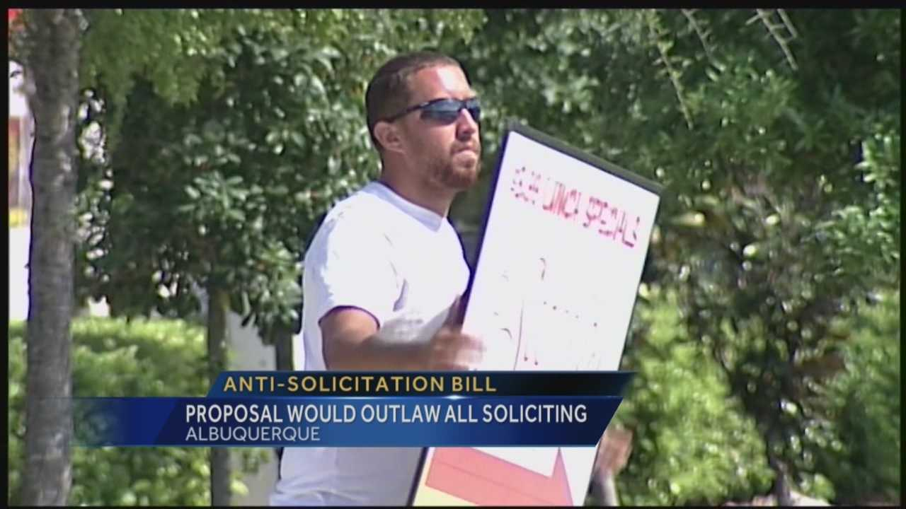 If a city councilor gets his way panhandling near busy roads will be outlawed.