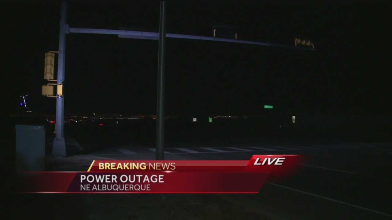 Breaking News Power Outage In Northeast Albuquerque