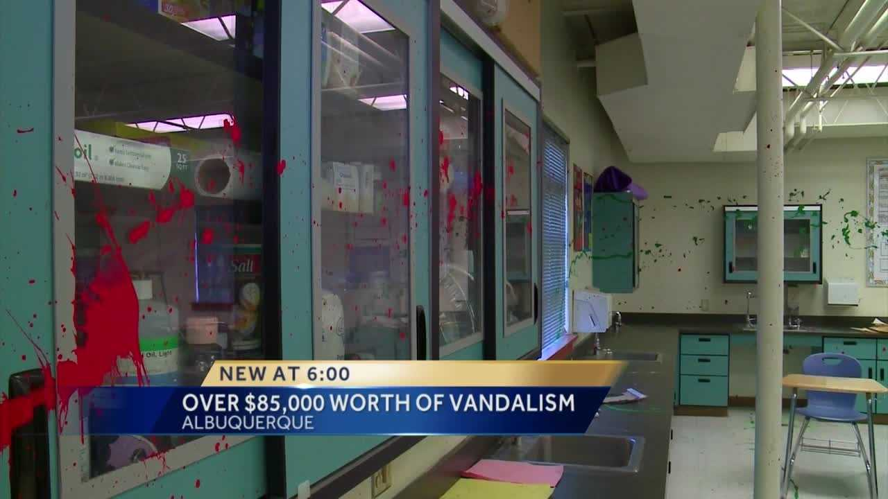 More than $85,000 worth of damage at Wilson Middle School.
