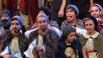 """Goodluck takes time for a lighter moment at a performance of """"The Hobbit"""" at the Albuquerque Little Theater."""