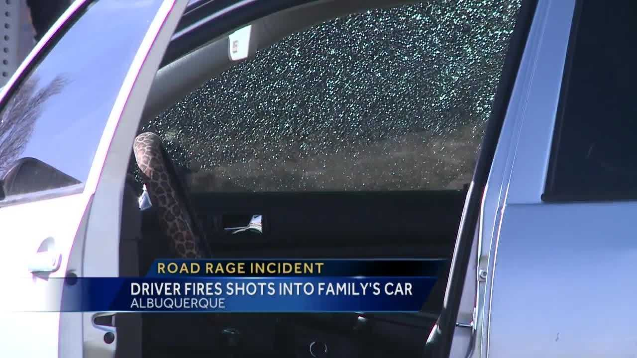 Police say while the family was driving with their child in the car, someone started firing shots into their vehicle.