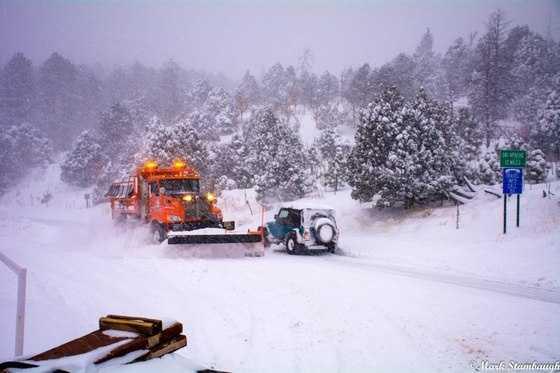 The road to Ski Apache in Alto, NM.