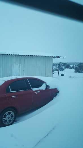A snow drift inPunta de Agua, N.M.