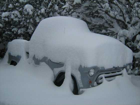Huge snow in Edgewood, N.M