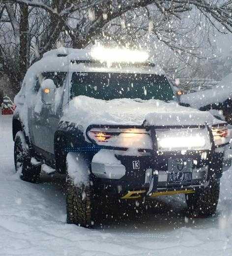Snowy weather in Mora, N.M.