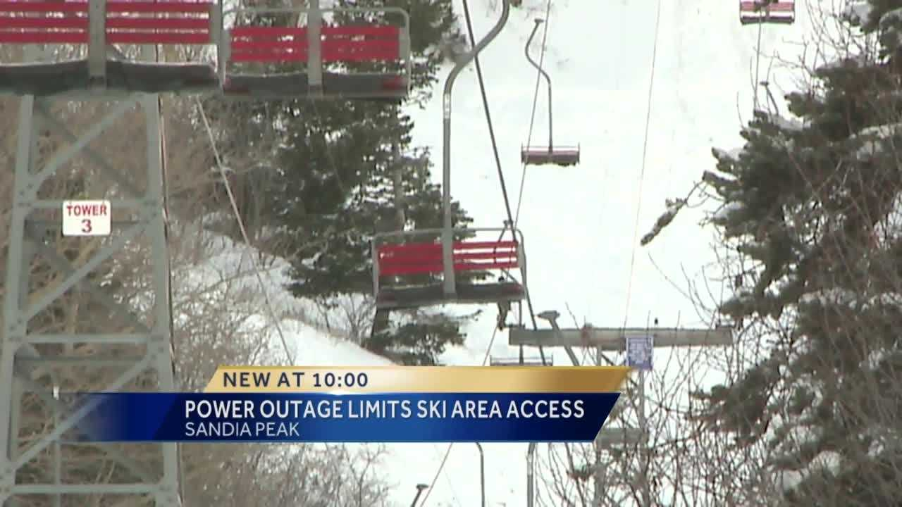 The storm dumped several inches of snow on Sandia Peak. While it was a winter playground for skiers and snowboarders, the ski area did experience some issues.