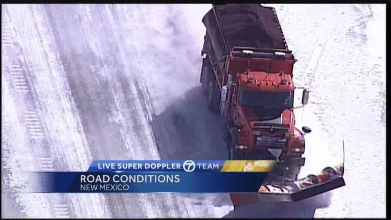 New Mexico was still in a state of emergency Tuesday as crews continued their round-the-clock efforts to keep snow and ice off roadways.