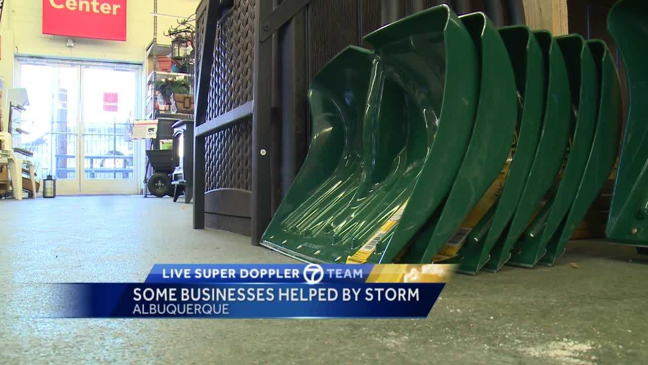 Some businesses were hurt by the latest snowstorm to hit New Mexico, but others were actually helped by the wintry blast.