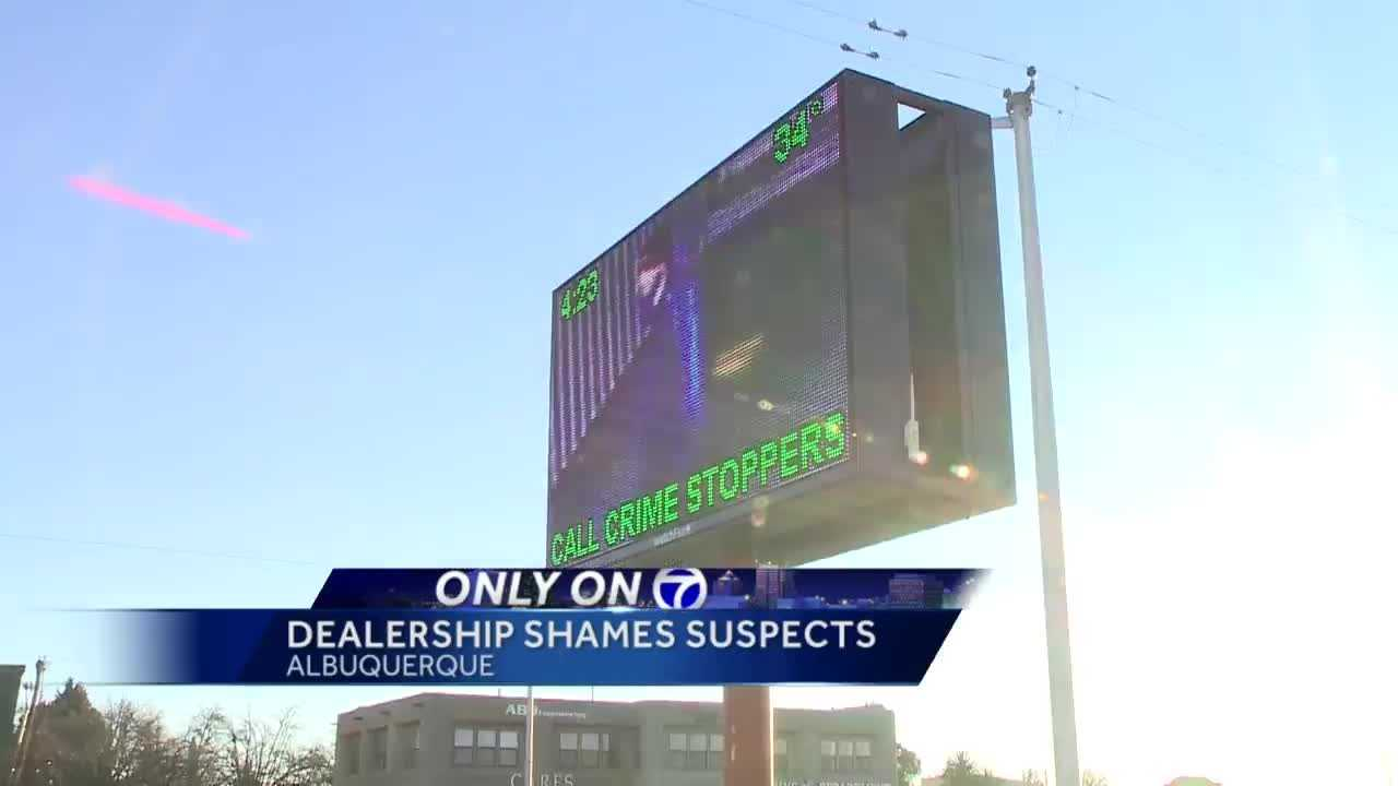 An Albuquerque auto dealership is getting a lot of attention for its electronic billboard.