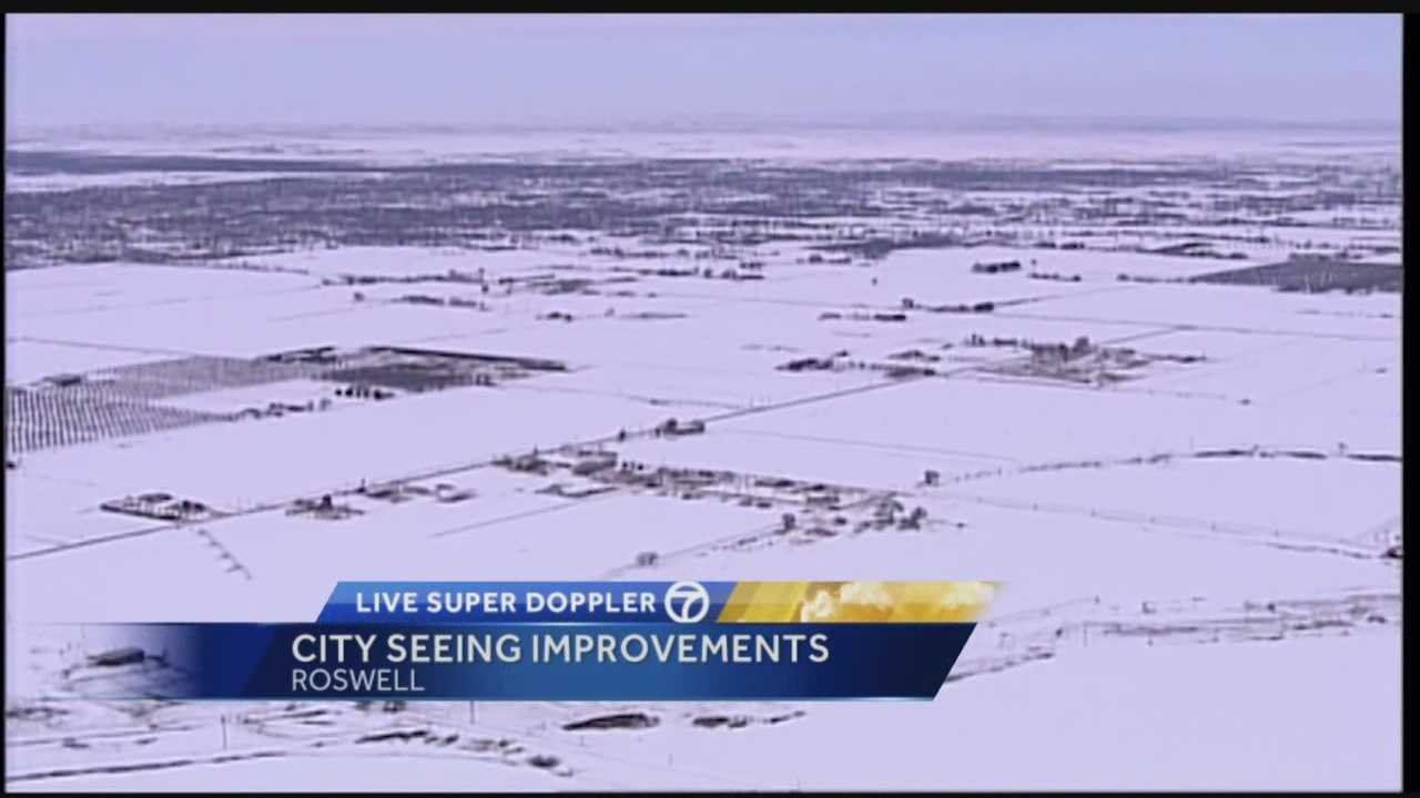 A winter storm packed a serious punch on Christmas weekend, slamming Roswell and much of southeastern New Mexico. But New Year's Eve brings good news as things are looking much better.