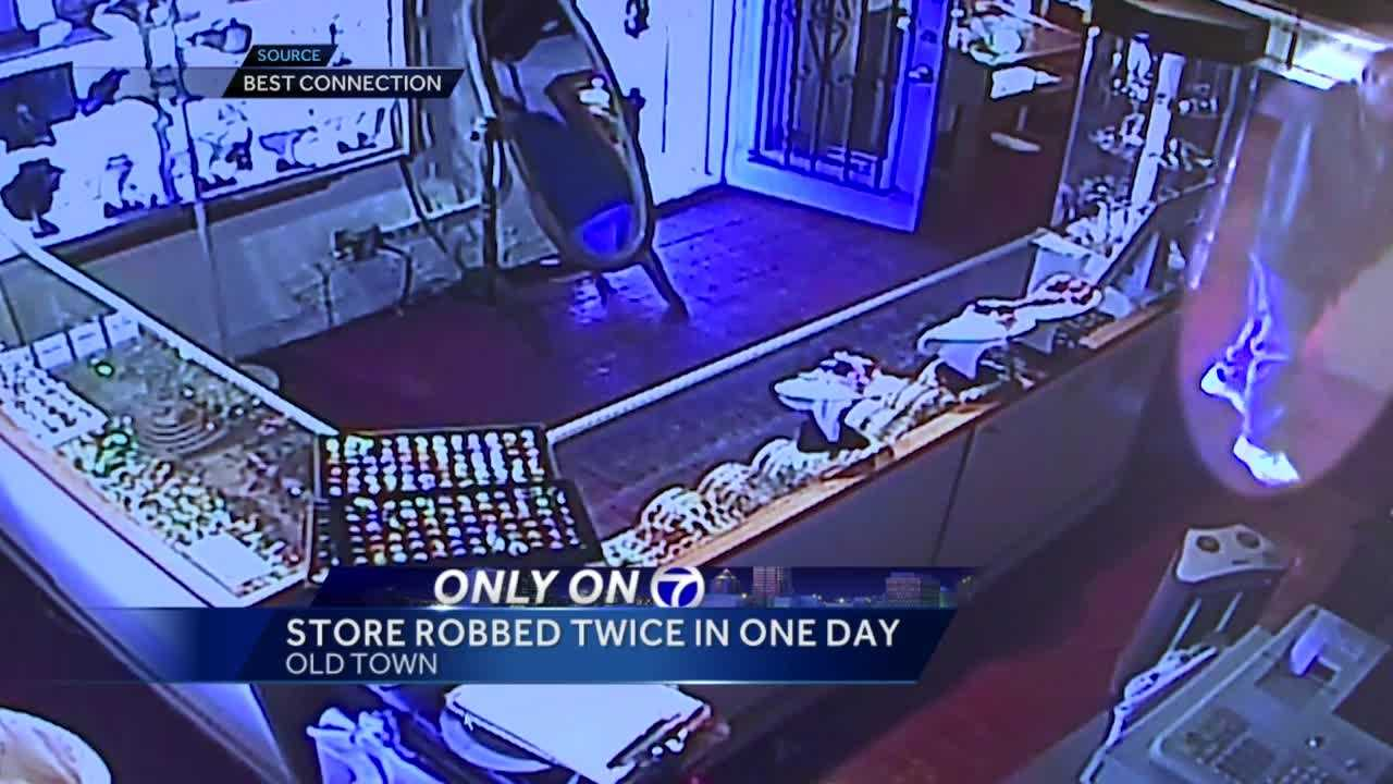 Best Connection Jewelry is picking up the pieces Monday after being robbed two times in one day.