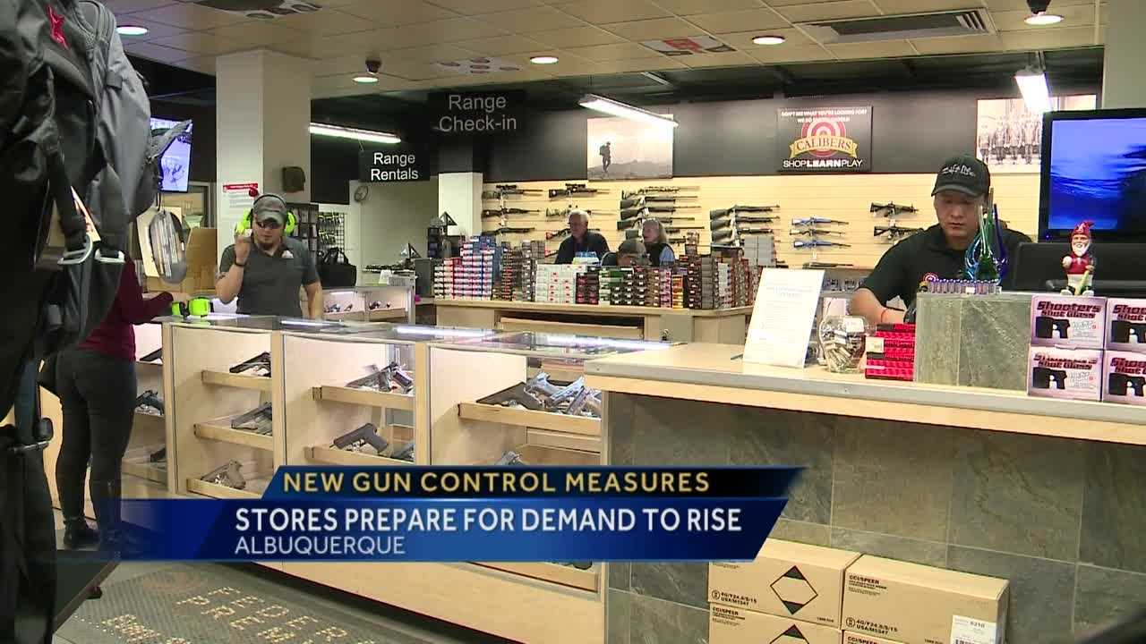 President Obama plans to unfold new gun control measures tomorrow and local gun stores say they're preparing for sales to go up.