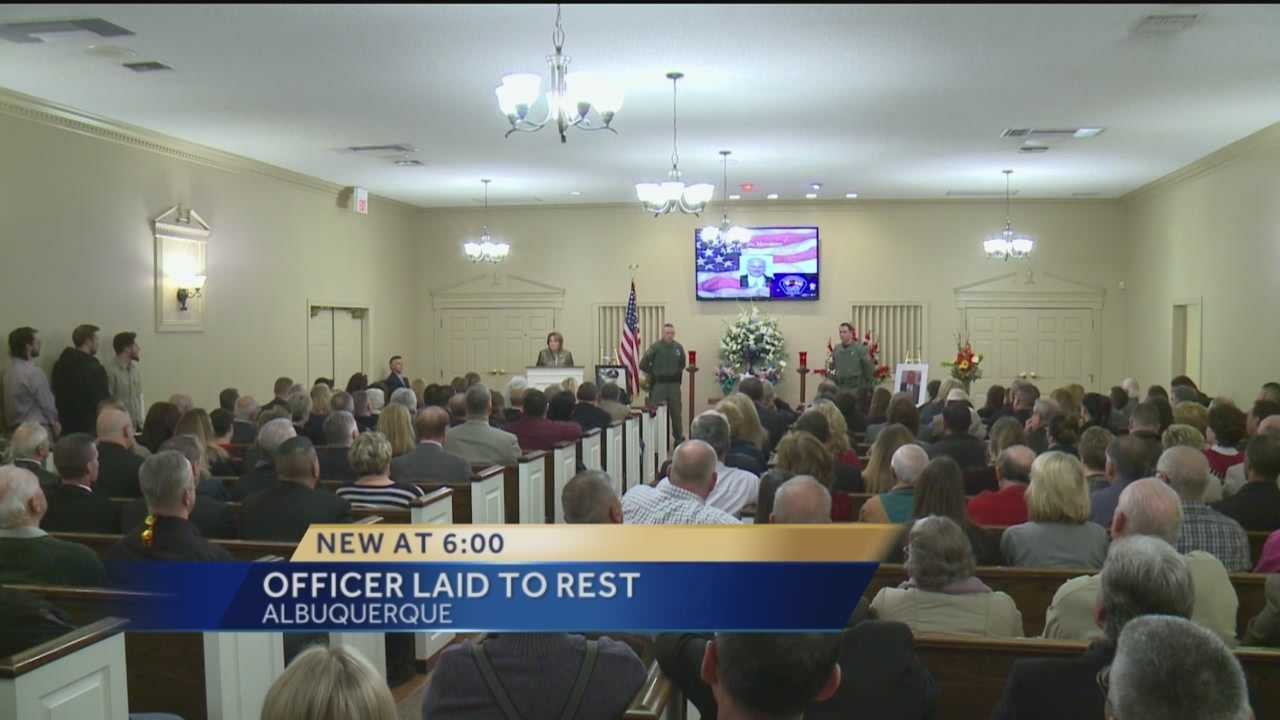 On Tuesday, hundreds came together to pay their final respects to former Albuquerque police Officer John Messimer.