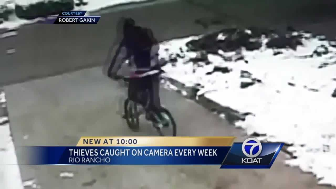 Residents in one Rio Rancho neighborhood are on edge after a series of incidents caught on surveillance camera, including a brazen bike theft and a man strolling in the nude.