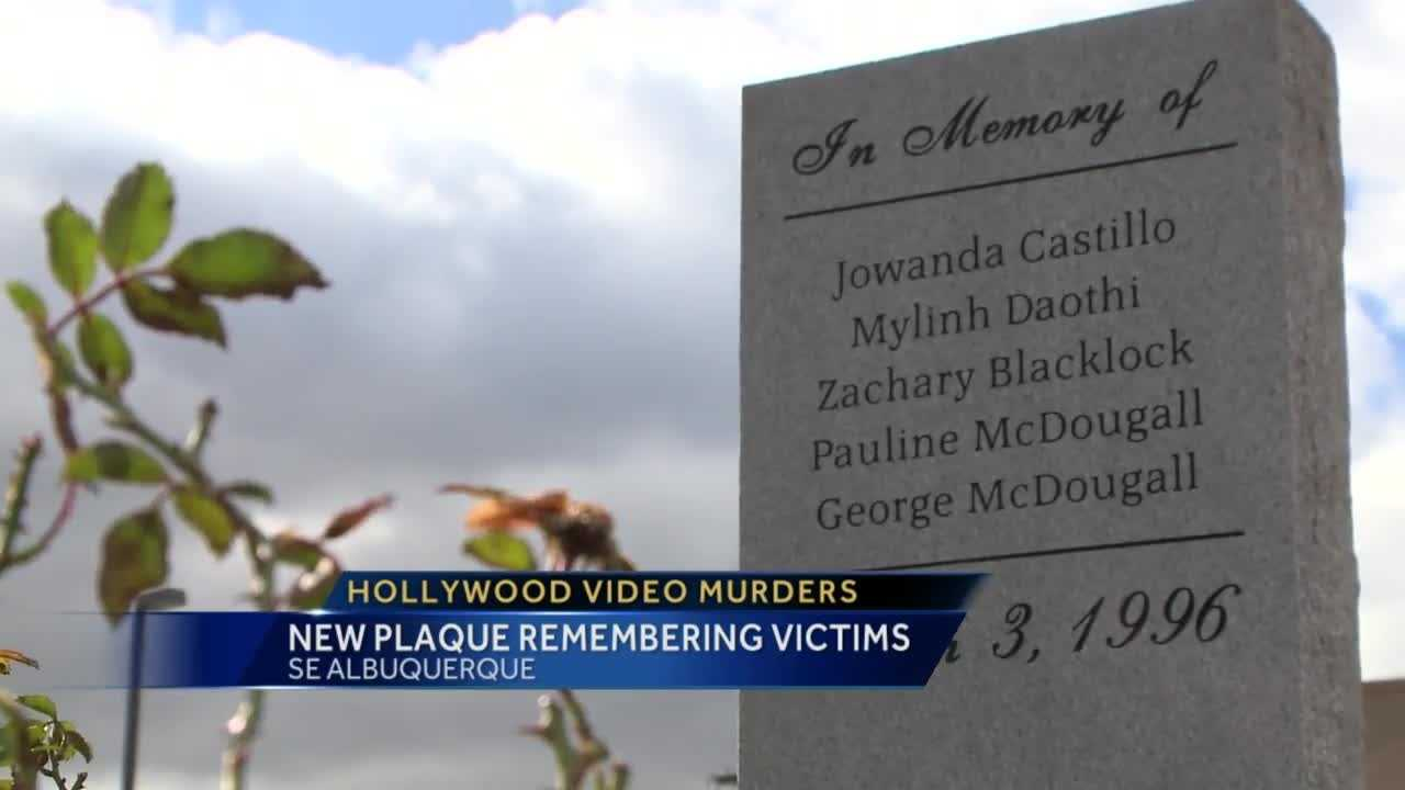 It's one of Albuquerque's most shocking crimes, robbers shot and killed three people working at Hollywood Video. A plaque to remember the victims was put up but went missing. Now a new plaque stands to remember the victims.