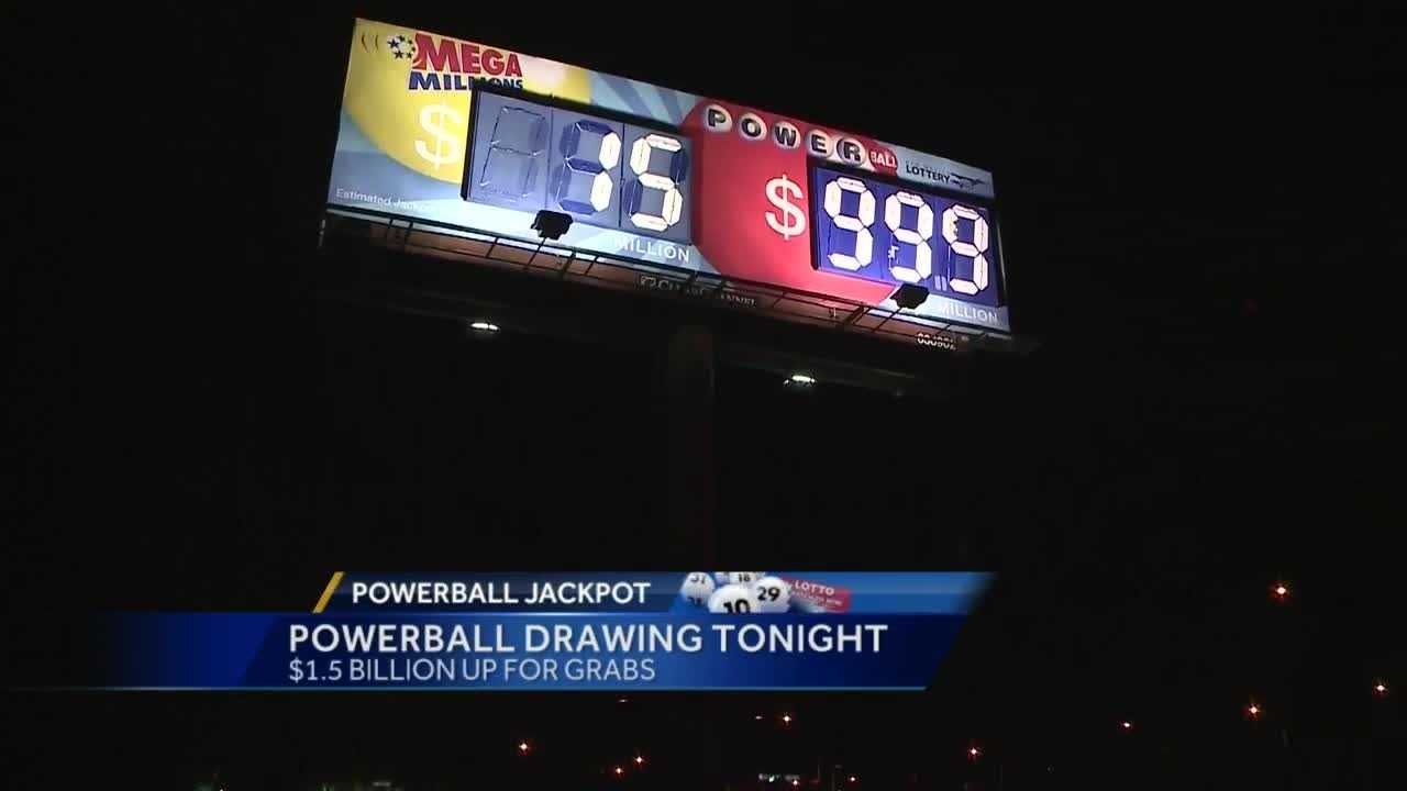 Tonight is the historic powerball drawing .