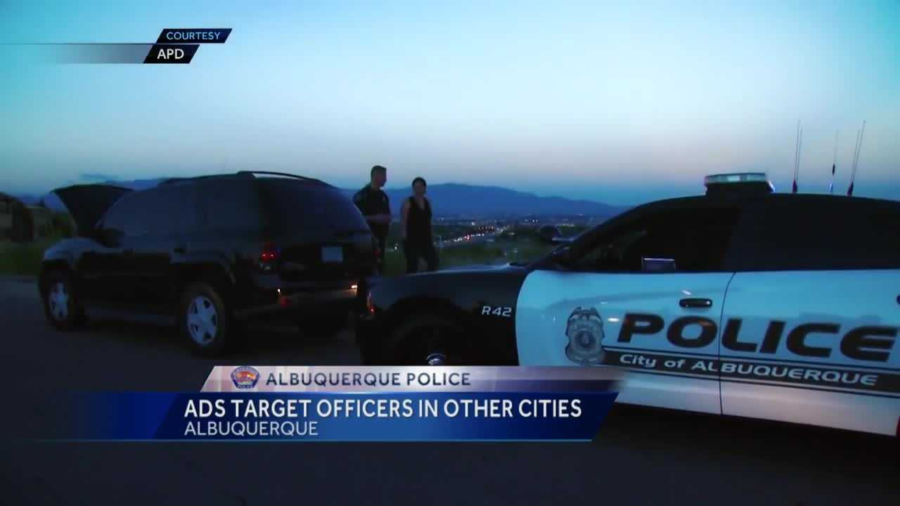 The Albuquerque police department is trying a new recruitment tactic. It's targeting cities where there's a long wait list to become a cop, or places where departments are paying low wages.