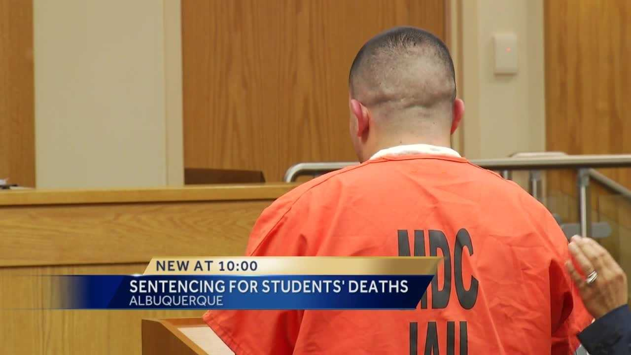 The man accused of crashing into two UNM students and killing them almost didn't get sentenced today.