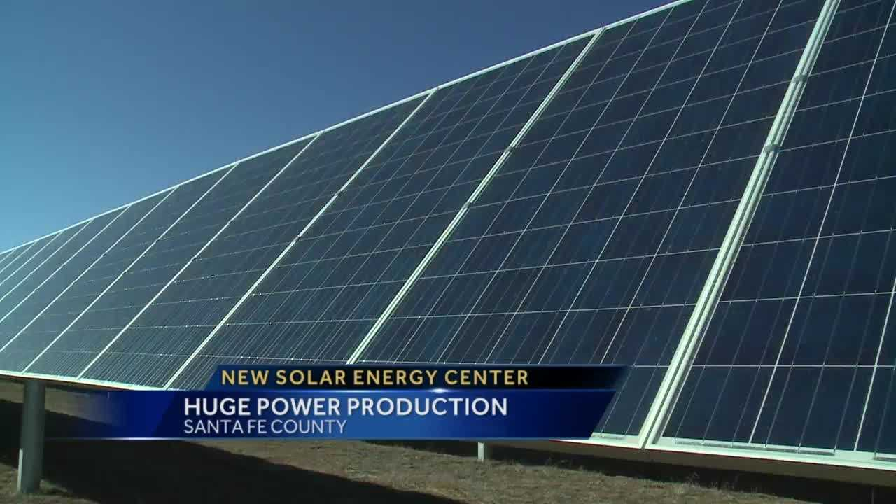 Today there's going to be a big dedication ceremony for a new solar farm.