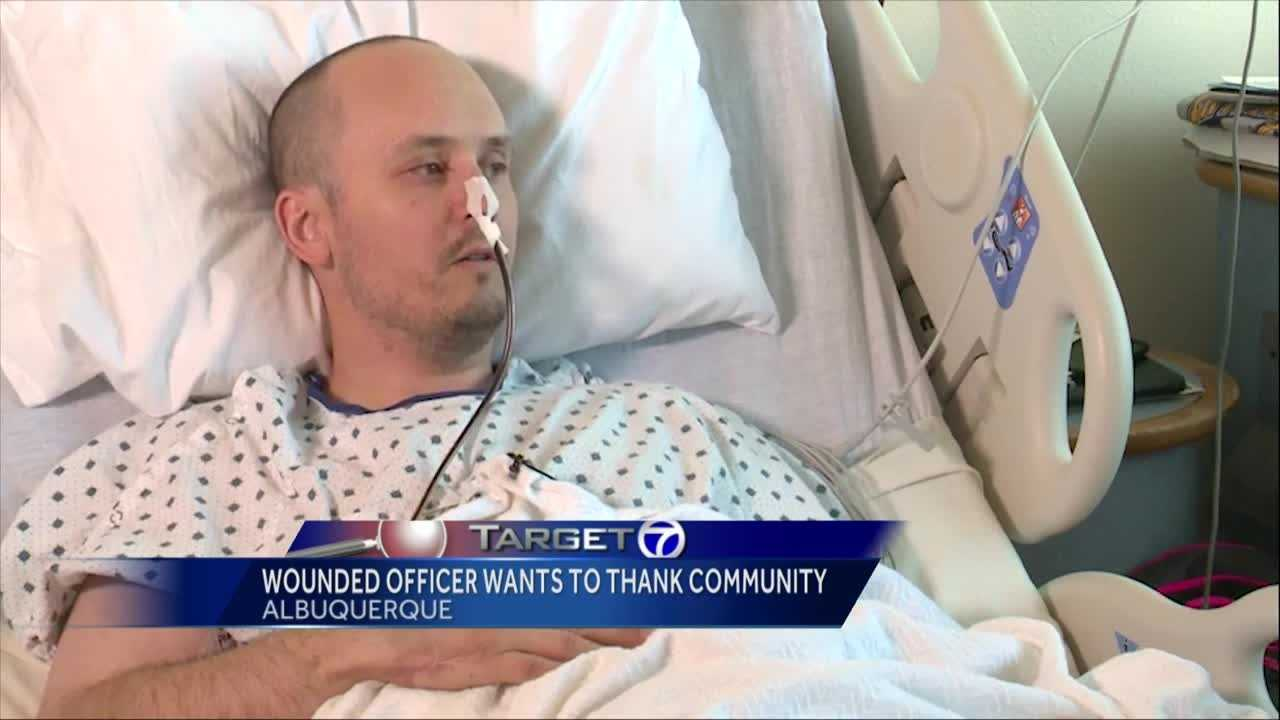 Albuquerque Police Detective Jacob Grant was shot 9 times while on the job one year ago. He wants to thank the Albuquerque community for their support.