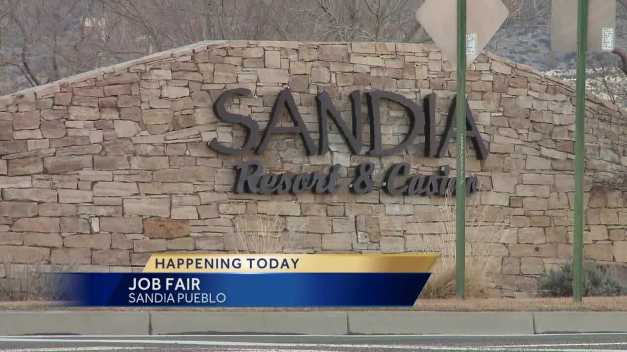 Sandia Pueblo's job fair will be today, from 10 until 3 in the Sandia Resort & Casino Ballroom.