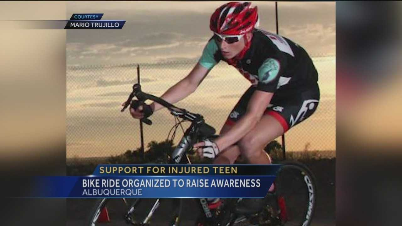 Bike ride organized to support injured teen