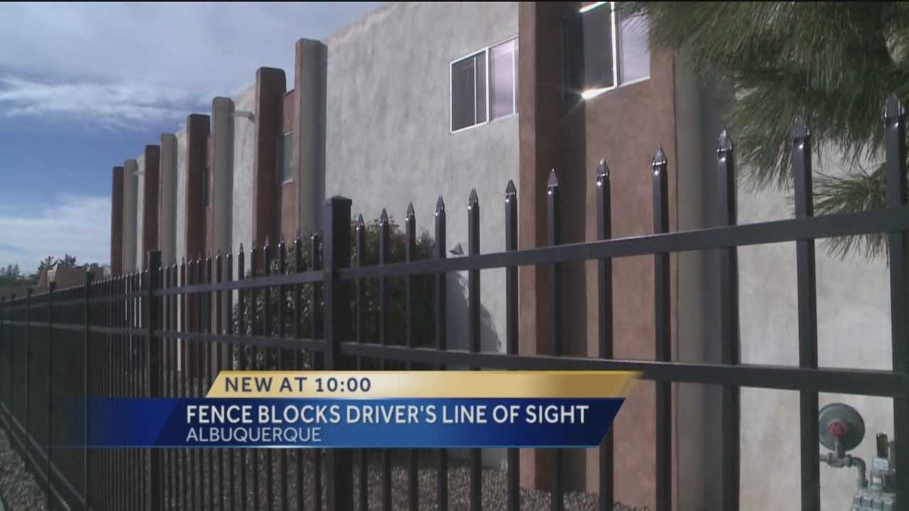 A fence in northeast Albuquerque is giving drivers a headache, as many say they can't see around it and it puts others in danger.