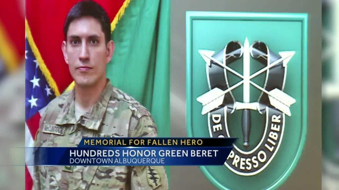 Albuquerque native Matthew Mc'Clintock died fighting for his country in Afghanistan. Hundreds came out to honor and pay their respects to the green beret.