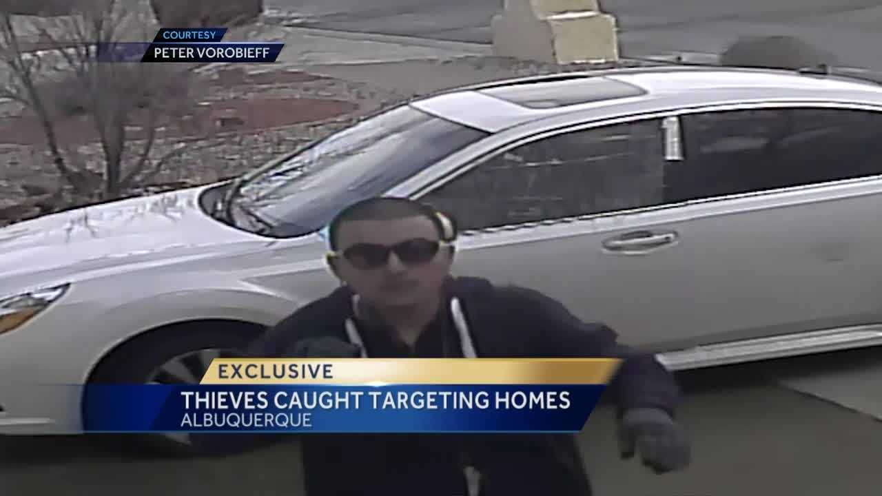 Thieves caught on video targeting home