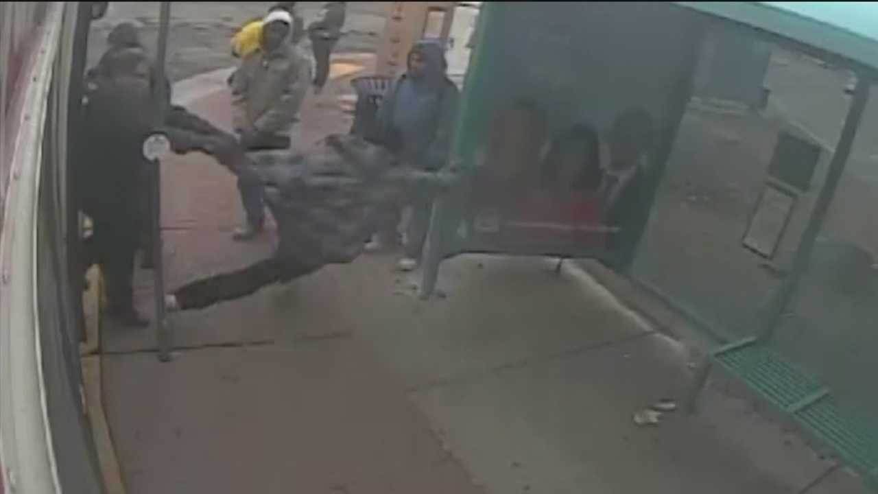 An ABQ Ride bus driver was recently caught on camera pushing a man off the bus and onto the sidewalk.