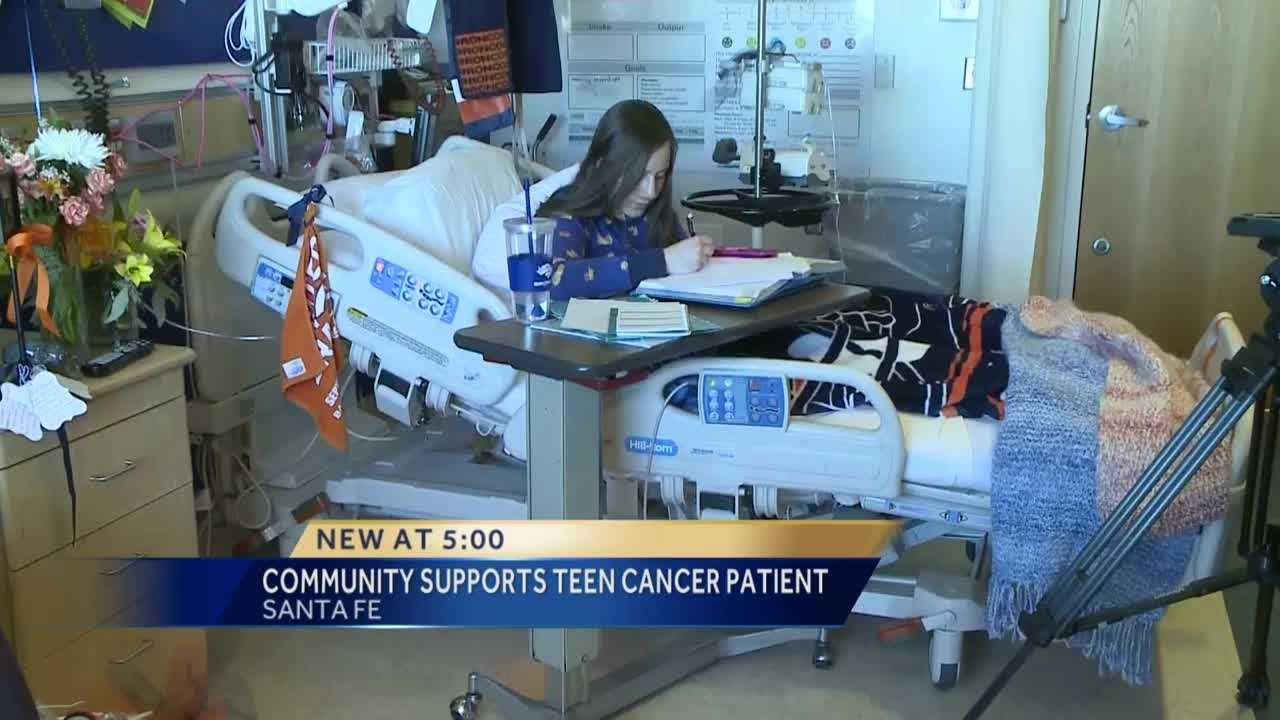 The captain of the dance team at St. Michael's High School is battling cancer.