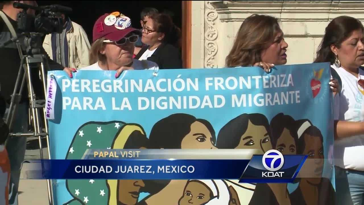 On Tuesday, a group of women stood together along the front steps of a Juarez cathedral and sang songs for migrant and refugee workers who have suffered abuse.