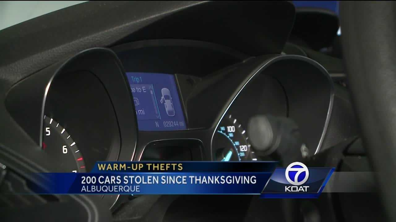 APD says people are are leaving their cars unattended while warming them up in the morning,  leading to 200 stolen cars since Thanksgiving.