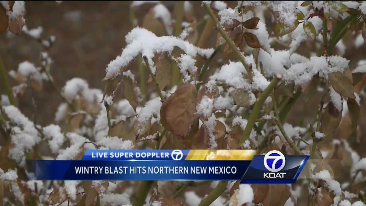 Wintry blast hits northern New Mexico
