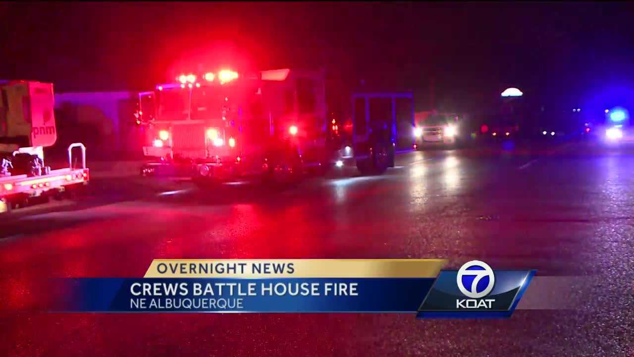 In overnight news.. firefighters battled a house fire in northeast albuquerque.